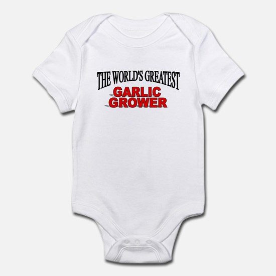 """The World's Greatest Garlic Grower"" Infant Bodysu"