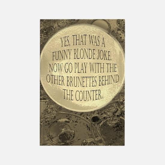 Smart blonde Rectangle Magnet