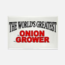 """""""The World's Greatest Onion Grower"""" Rectangle Magn"""