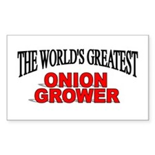"""""""The World's Greatest Onion Grower"""" Decal"""