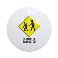 Beware of Sasquatch Ornament (Round)