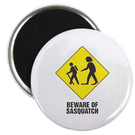 "Beware of Sasquatch 2.25"" Magnet (10 pack)"