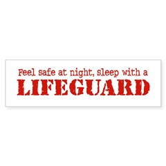 Feel Safe with a Lifeguard Bumper Bumper Sticker