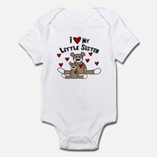 I Love My Little Sister SM Baby bodysuits
