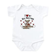 Love BIG Brother SOCK Monkey Infant Bodysuit