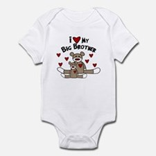 Love BIG Brother SOCK Monkey Infant Bodysuit