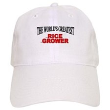 """The World's Greatest Rice Grower"" Baseball Cap"