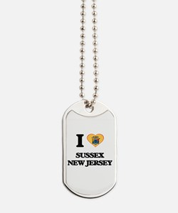 I love Sussex New Jersey Dog Tags