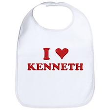 I LOVE KENNETH Bib
