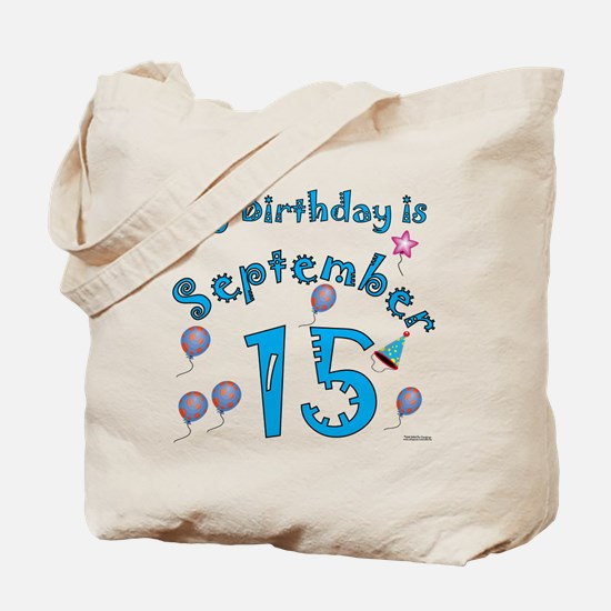 September 15th Birthday Tote Bag