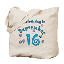 September 16th Birthday Tote Bag