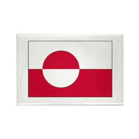 Greenland Flag Rectangle Magnet (10 pack)