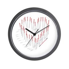 Acupuncture Heart Wall Clock