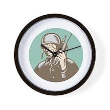 World War Two Soldier American Talk Radio Circle W
