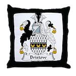 Bristow Family Crest  Throw Pillow