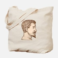 Male Goatee Side View Etching Tote Bag