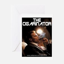 Arnold Schwarzenegger Cigar Greeting Card