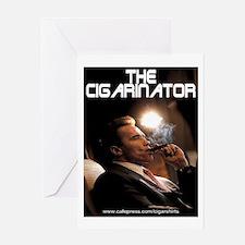 Arnold Schwarzenegger Cigar Greeting Card