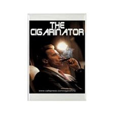Arnold Schwarzenegger Cigar Rectangle Magnet