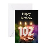 102 birthday Greeting Cards