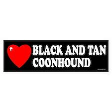 BLACK AND TAN COONHOUND Bumper Bumper Sticker