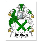 Brigham Family Crest Small Poster