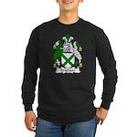 Brigham Family Crest Long Sleeve Dark T-Shirt