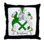 Brigham Family Crest Throw Pillow