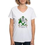 Brigham Family Crest Women's V-Neck T-Shirt
