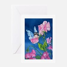PeasBlossom the Fairy on Sweet Pea Greeting Card
