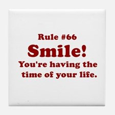 Rule #66 Tile Coaster