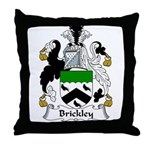 Brickley Family Crest  Throw Pillow