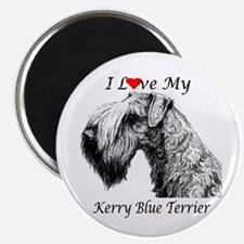 I Love My Kerry Blue-1 Magnet