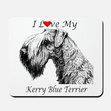 I Love My Kerry Blue-1 Mousepad