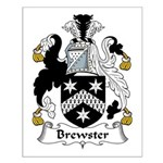 Brewster Family Crest Small Poster