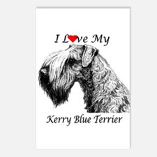 I Love My Kerry Blue-1 Postcards (Package of 8)