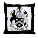 Brewster Family Crest Throw Pillow
