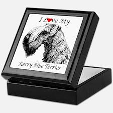 I Love My Kerry Blue-1 Keepsake Box