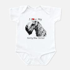 I Love My Kerry Blue-1 Infant Creeper