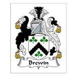 Brewin Family Crest Small Poster
