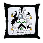 Brewin Family Crest Throw Pillow