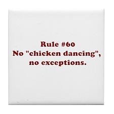 Rule #60 Tile Coaster