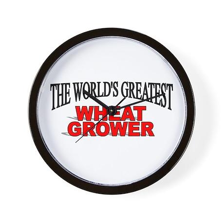 """The World's Greatest Wheat Grower"" Wall Clock"