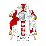 Brayne Family Crest Small Poster