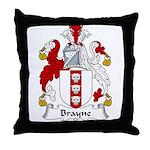 Brayne Family Crest Throw Pillow