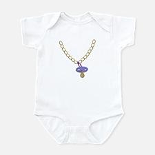 Baby Bling Bling Pacifier Chain Funny Bodysuit