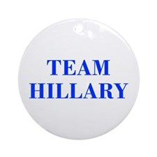 Team Hillary-Bod blue 421 Ornament (Round)