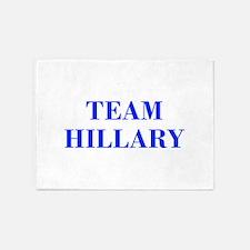 Team Hillary-Bod blue 421 5'x7'Area Rug