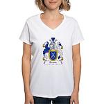 Brand Family Crest Women's V-Neck T-Shirt