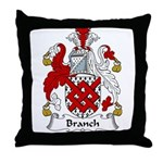 Branch Family Crest Throw Pillow